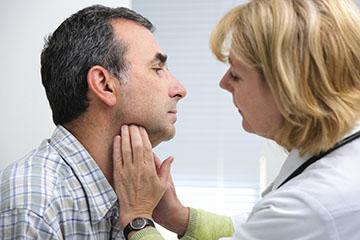 Пальпация щитовидки