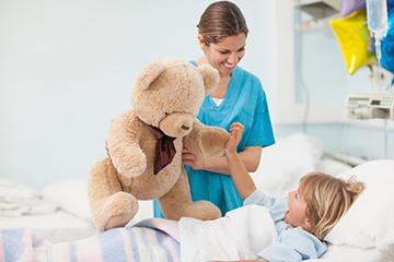 ребенок в медицинском учреждении