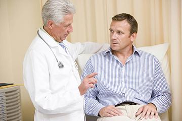 на обследовании у врача