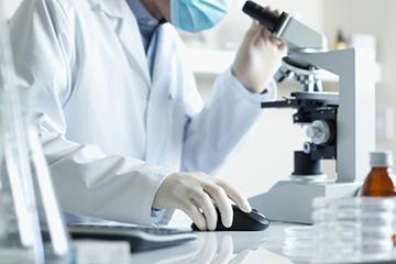 анализ гормонов под микроскопом