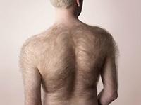 волосы на спине